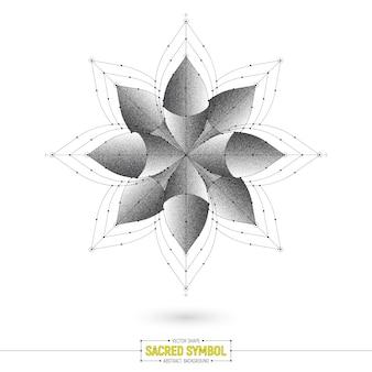 Forma di vettore di simbolo sacro esoterico di mandala