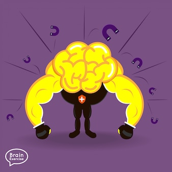 Forma fisica del cervello di concetto di illustrazioni