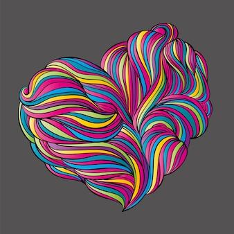 Forma fluida disegnata a mano. illustrazione per una cartolina o un poster.