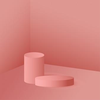 Forma geometrica 3d per presentazione di prodotti cosmetici.