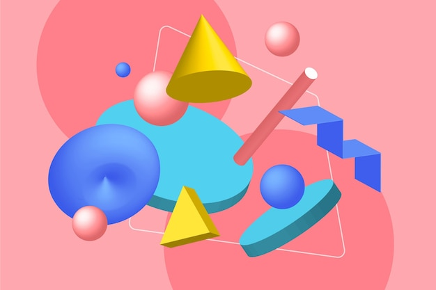 Forma geometrica astratta del fondo 3d