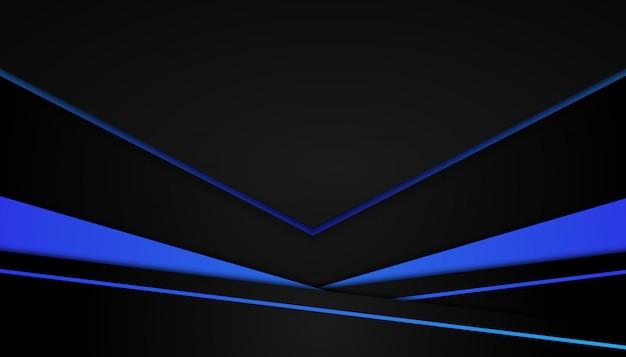 Forma geometrica blu astratta su sfondo scuro sport