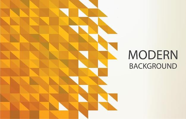 Forma geometrica dorata dorata del pixel del triangolo del fondo