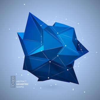 Forma geometrica poligonale blu brillante