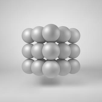 Forma poligonale astratta bianca