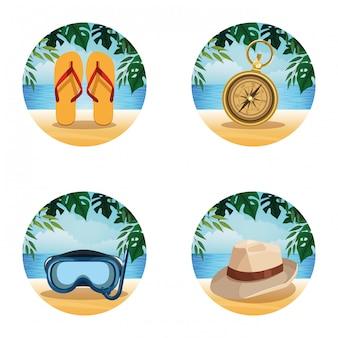 Forma rotonda estiva e da spiaggia