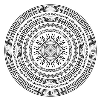 Forma rotonda vettoriale ornamentale isolato su bianco