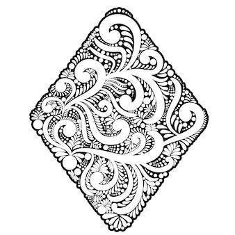 Forma trapezoidale di turbinii ed elementi floreali.