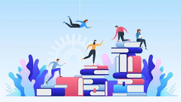 Formazione online. apprendimento a distanza, corsi online, istruzione, libri e libri di testo online