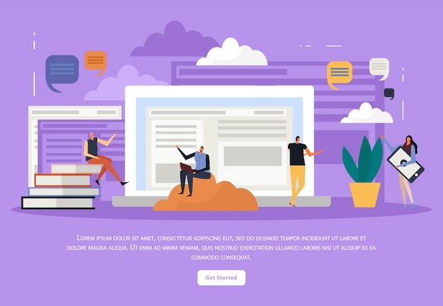 Formazione online piatta