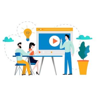 Formazione professionale, istruzione, tutorial, corsi di business