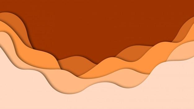 Forme astratte del taglio della carta e del fondo 3d