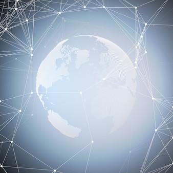 Forme astratte rete futuristica