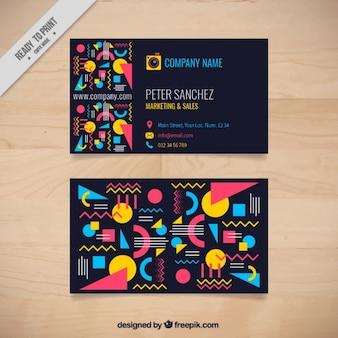 Forme colorate biglietto da visita