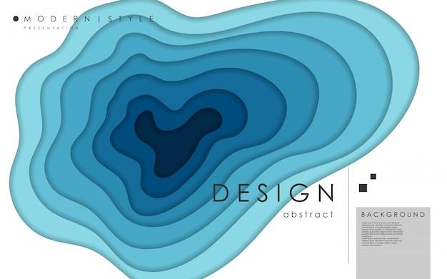 Forme di taglio astratto di carta e sfondo orizzontale. modello di testo