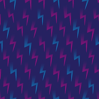 Forme flash retrowave seamless pattern