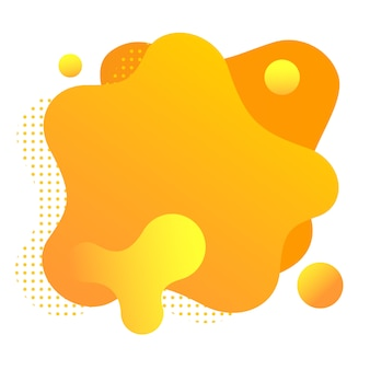 Forme fluide gradiente isolate su bianco. macchie arancioni colorate.