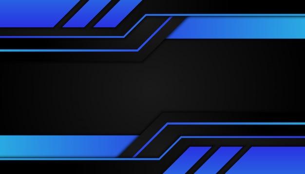 Forme geometriche astratte luce blu su sfondo scuro sport