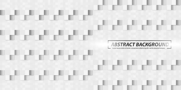 Forme geometriche astratte quadrati grigio banner sfondo