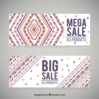 Forme geometriche colorate vendita banner