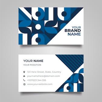 Forme geometriche con punti blu biglietto da visita
