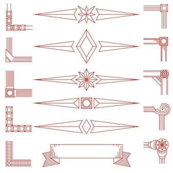 Forme geometriche e angoli vintage