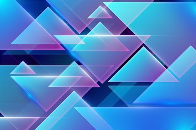 Forme geometriche e sfondo di luci al neon