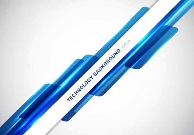 Forme geometriche lucide blu dell'intestazione astratta