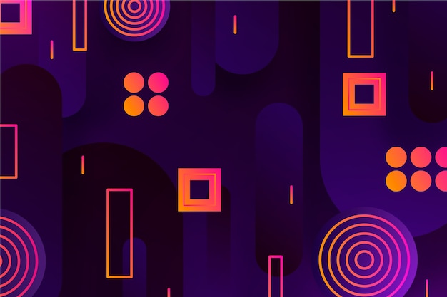 Forme geometriche sfumate su carta da parati scura