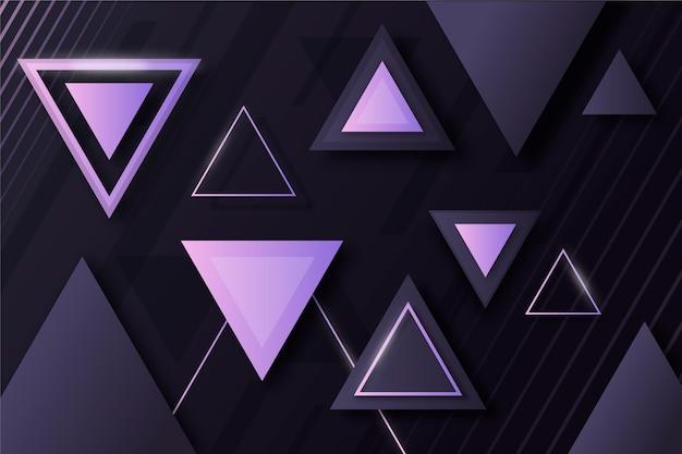 Forme geometriche sfumate su sfondo scuro