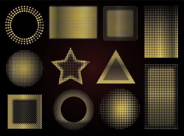 Forme punteggiate d'oro