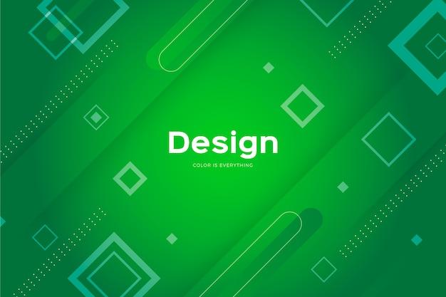 Forme verdi su sfondo verde