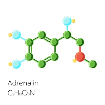 Formula dell'ormone epinefrina