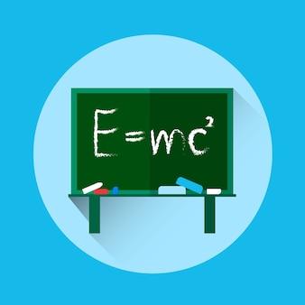 Formula fisica di albert einsteins a bordo della scuola