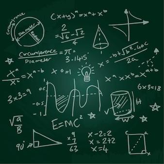Formule scientifiche disegnate a mano sulla lavagna
