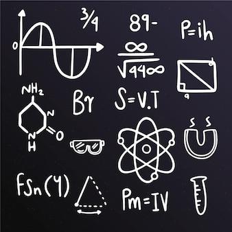 Formule scientifiche sulla lavagna