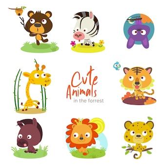 Forrest cute animals