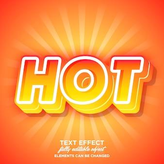 Forte effetto font audace con tema a colori caldi