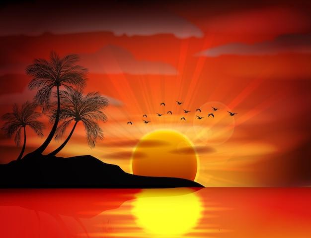 Foto di alba sul mare