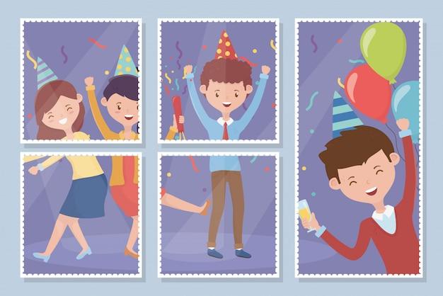 Foto gente felice festa di celebrazione