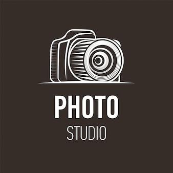 Foto logo design della fotocamera per studio fotografico