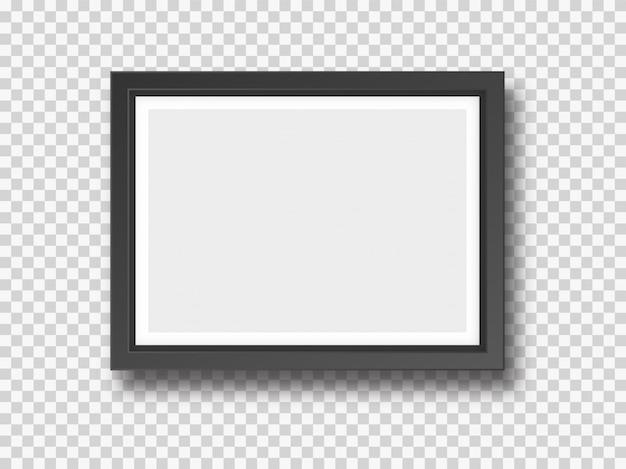 Fotografia da parete nera o cornice finta