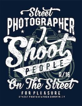 Fotografo di strada