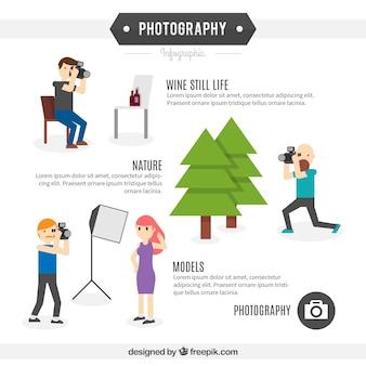 Fotografo infografica template