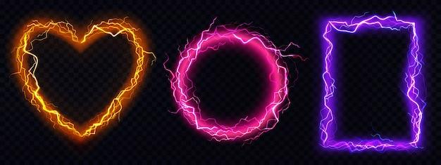 Fotogrammi di fulmini elettrici realistici