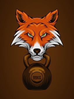Fox ha morso il kettlebell