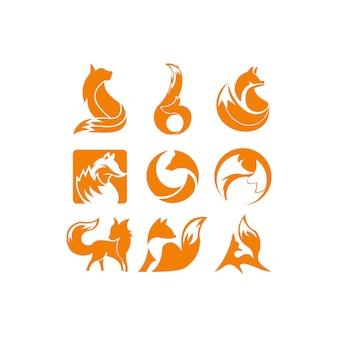 Fox logo di ispirazione arancione
