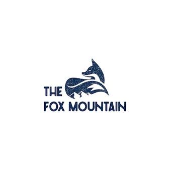 Fox mountain logo design ispirazione