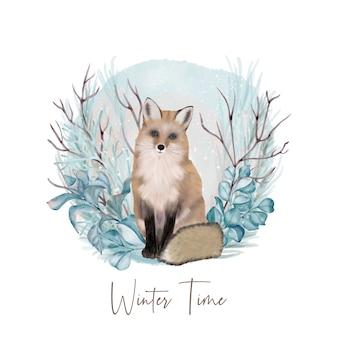 Fox nella foresta