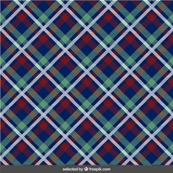 Frabric con motivo scozzese